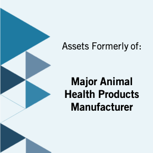 Auction: Equipment from a Major Animal Health Products Manufacturer